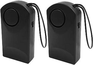 Homyl 2pcs Maçaneta Da Porta Alarme Alarme Pendurado Alarme Porta Detector De Entrada Aberta Preto
