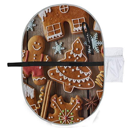 Biscuits pour bonhomme en pain d'épice avec des flocons de neige et des arbres de Noël Tapis à langer pour bébés à langer pour tout-petits Couples à langer 27x10 pouces Matelas à langer imperméables