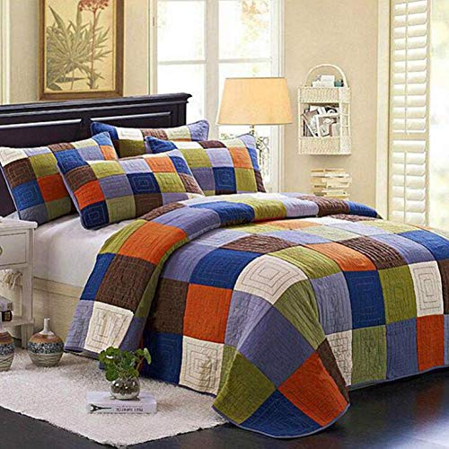 Gesteppte Tagesdecke Baumwolle Country Quilt...