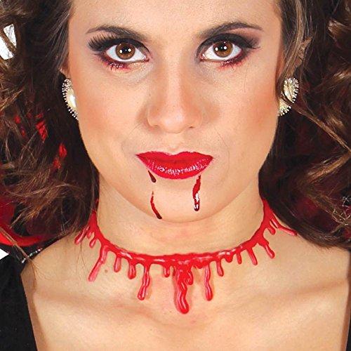 Gargantilla de garganta con gotas de sangre, gargantilla de vampiro para Halloween