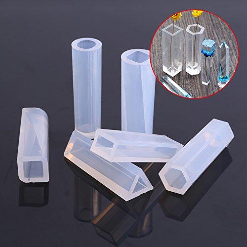 Accesorios para hacer joyas, moldes de silicona Moldes para fundición de resina para joyería Herramienta para manualidades de fundición de resina Cilindros de joyería Raya para hacer