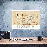 CloudShang Vintage Mid Century Kubismus Poster Le Corbusier
