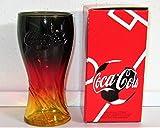 Coca-Cola - Vaso de cristal con tapa de color negro, rojo y dorado