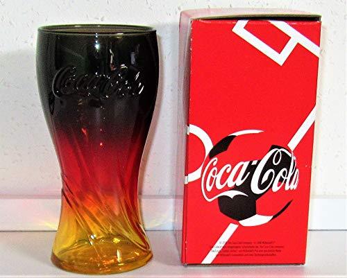 /Coca-Cola Sammelglas Glas/Limitierte Auflage/Schwarz-Rot-Gold/Mc Donald/Russia 2018's