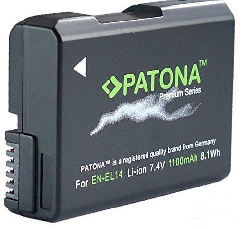 PATONA Premium - Ersatz für Akku Nikon EN-EL14 EN-EL14a (echte 1100mAh) -