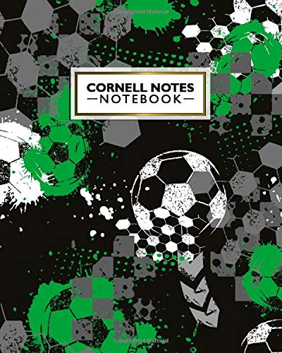 Cornell Notes Notebook: Urban Football Graffiti Cornell Note Medium Lined Paper Notebook - Large College Ruled Journal Note Taking System for School & University