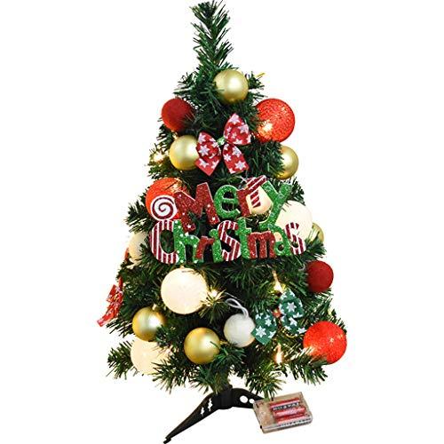 Sapin de Noël Arbre de Noël - Décoration de Noël Décoration de bureau pour arbre de Noël crypté 60 / 90cm (taille : 60 cm)