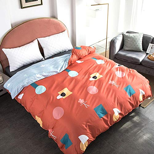 DTBDWOSVDouble 3 Pieces Cartoon Symbol Orange Patternduvet Cover Set - 3D Printed Bedding Set - 1 Duvet Cover Plus 2 Pillow Covers - Ultra Soft Hotel Quality Wrinkle And Fade Resistant200X200 Cm