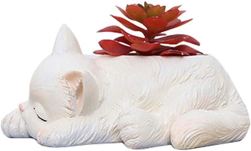 Resin Cute Cat Succulent Planter Pots Funny Pl Reservation Flower Pot Cactus supreme