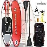 SEACOASTAR - Juego de Tablas de Surf (Aluminio, 325 x 80 x 15), Color Rojo, Tabla,...