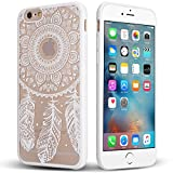 Coque iPhone 6/6S, [Anti-Rayures] [Gaufrage] TPU Pare-chocs + Acrylique Mélange...