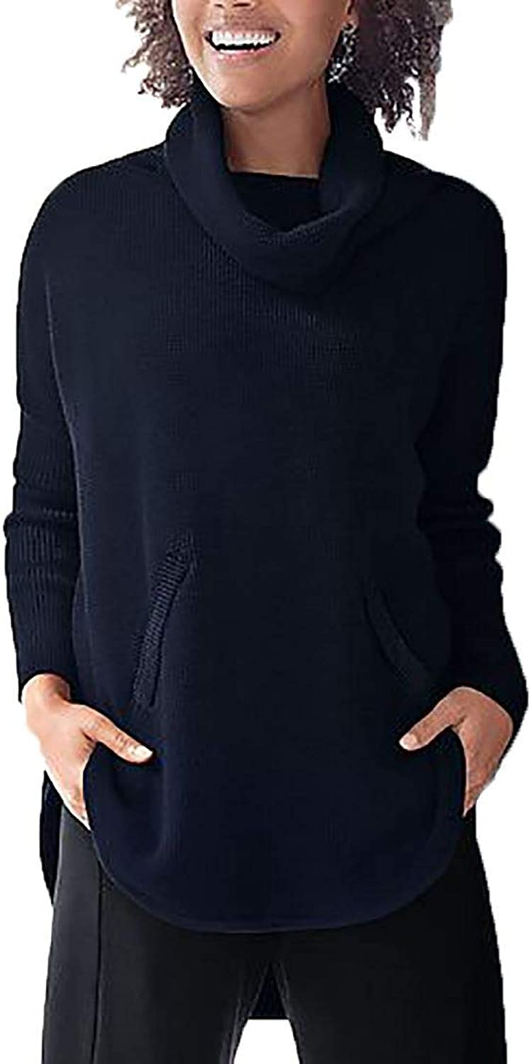 Planet  Women's Waffle Cowl Sweater  Midnight  One Size