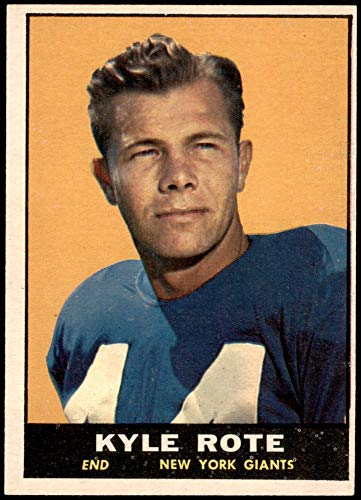 1961 Topps # 87 Kyle Rote New York Giants-FB (Football Card) VG/EX Giants-FB SMU