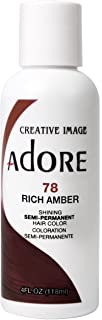 Adore Semi-Permanent Haircolor #078 Rich Amber 4 Ounce (118ml) (2 Pack)