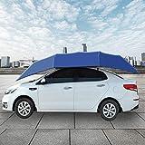 Telo copriauto portatile per auto con protezione antipolvere in metallo e panno per ombrello, protezione solare antipolvere
