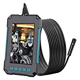 ZBQLKM Endoscopio 4.3'Pantalla IPS endoscopio Industrial, vídeo de Mano Boroscope 1080P HD con 8 led cámara de Serpiente Impermeable con batería de 2600mAh (5M / 16.4TF)