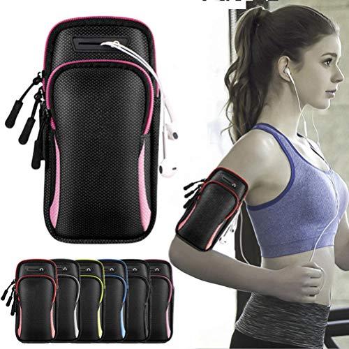 OUTDOORS Brazalete para correr de hasta 6.5 pulgadas, compatible con iPhone 12 Pro Max/Xr/Xs Max/X/8/7 Plus, Samsung Galaxy S10/S9/S8 Plus, banda deportiva para hombres y mujeres, impermeable y cómodo