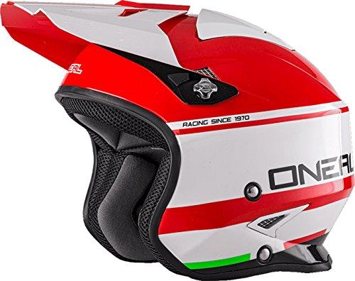 O'NEAL Oneal Slat Helmet Crimson L (59/60 cm) Helm, Erwachsene, Unisex, Rot/Weiß
