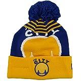 Golden State Warriors New Era Logo WhizロイヤルブルーCuffed Pomニットビーニー帽子/キャップ