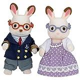 Calico Critters Hopscotch Rabbit Grandparents, Dolls, Dollhouse Figures, Collectible Toys