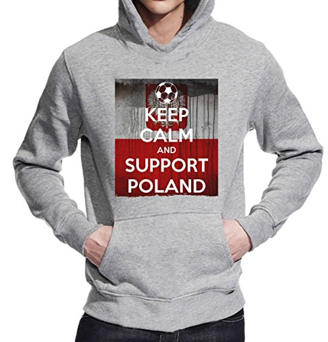 Euro 2016 Keep Calm and Support Poland Unisex Pullover Hoodie XX-Large
