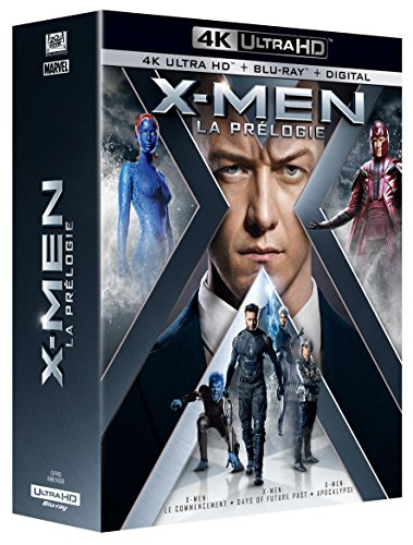 Coffret prélogie X-men : le commencement ; days of future past ; apocalypse 4k ultra hd [Blu-ray] [FR Import]