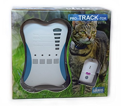 Girafus Katze Hund pro-Track-Tor Tracker Peilsender Ortung und Sucher//Mini RF-Tracker (8g mit Batterie) ideal für Katzen Haustiere Hunde//Ortung in Räumen möglich zB. Nachbarskeller–inkl. LADEGERÄT