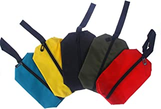 Bolsas de ferramentas de lona pequenas da Nuomi, pacote com 5 bolsas, organizador de armazenamento portátil com alça para ...