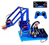 KEYESTUDIO Robot Arm 4-Axis Servo Control Rotación Kit Robotica para Arduino de Juguete Programable para Niños y Adultos