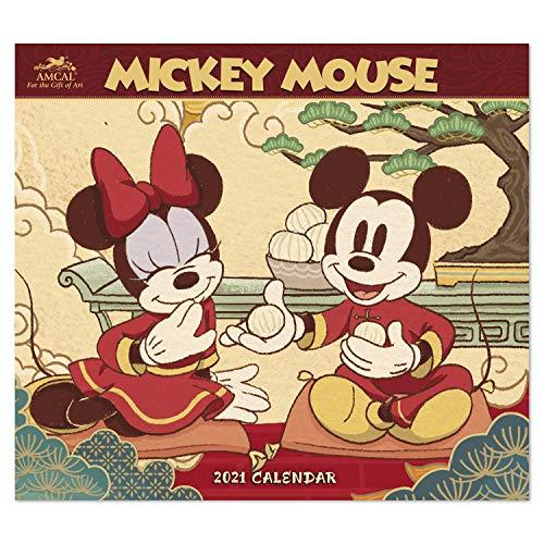 Amcal Wandkalender 2021 Disney Micky Maus, 33 x 30,5 cm, monatlich (AMWC234921) ...