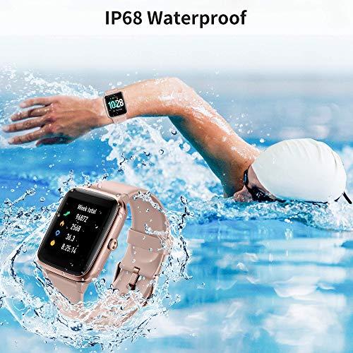 Reloj Inteligente Mujer, Smartwatch Impermeable IP68 Pulsera Actividad Inteligente con Monitor de Pulsómetro/Podómetro/Sueño/Calorías/Cronómetros Reloj Deportivo Hombre para Xiaomi Huawei iPhone miniatura