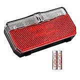 nean Fahrrad Rückleuchte mit Reflektor und StVZO-Zulassung inkl. Batterien, Rückstrahler mit Reflektor, LED Rücklicht, batteriebetrieb, 5 Candela, rot