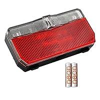 StVZO geprüft und in Deutschland für den Straßenverkehr zugelassen mit StVZO-zugelassenem Großflächenrückstrahler Batteriefachkapazität: 2 x AAA-Batterien 1,5V (inklusive), Wechsel ohne Demontage der Leuchte LED Signalleuchte: niedriger Batteriestand...