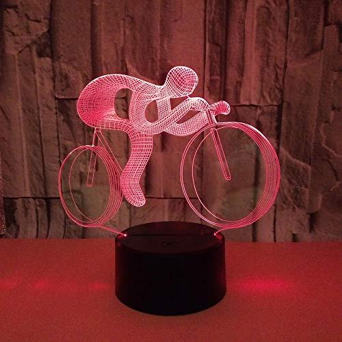 WULDOP Luz De Noche Bicicleta carreras deportes Lámpara Nocturna Luz De Noche Luz Quitamiedos Infantil Led Para Habitación Infantil Dormitorio Baño Cuna Pasillo