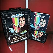 Michael Jackson's Moonwalker US Cover with Box and Manual For Sega Megadrive Genesis Video Game Console 16 bit MD card - Sega Genniess - Sega Ninento, 16 bit MD Game Card For Sega Mega