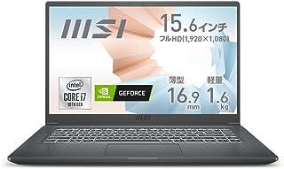 【第10世代CPU・薄型・軽量】MSIビジネス・クリエイターノートPC Modern 1.6Kg i7 MX350/15.6FHD/8GB/512GB/Modern-15-A10RBS-600JP