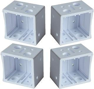 """CUTELEC Plastic Bracket 4pcs White Color for 5/8"""" Windown Blinds"""