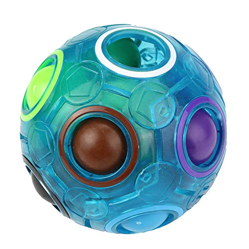 Festiday 1pc Magic Rainbow Ball Sale Kids Toy, Luminous Fun Cube Fidget Puzzle Toy Gift Education Toy for Boys Girls Children Fun Toy for 3 4 5 6 7 + Years Old toys