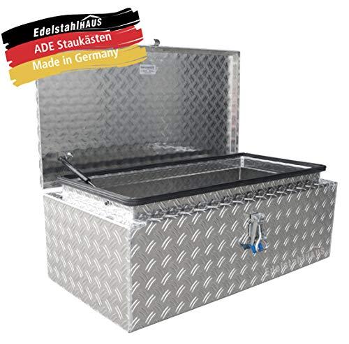 ADE Dachbox 800x400x300 mm aus Alu Riffelblech inkl. Gasdruckdämpfer