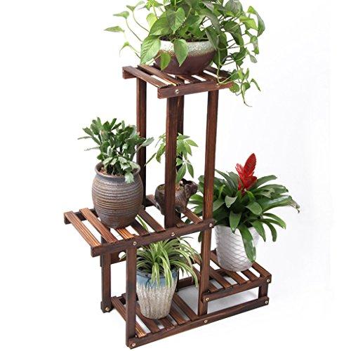 MLHJ Stand de Fleurs- Support de Fleur, Support de Plante d'intérieur de Salon de Support de Pot de Fleur Multifonctionnel en Bois Plein (Taille : 78 * 67 * 25cm)