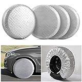 Kohree RV Tire Wheel Covers Set of 4 for RV Trailer Camper Truck Auto, Waterproof Snow UV Sun Tire Protector for 30' to 32' Motorhome Wheel Diameters, Aluminum Film