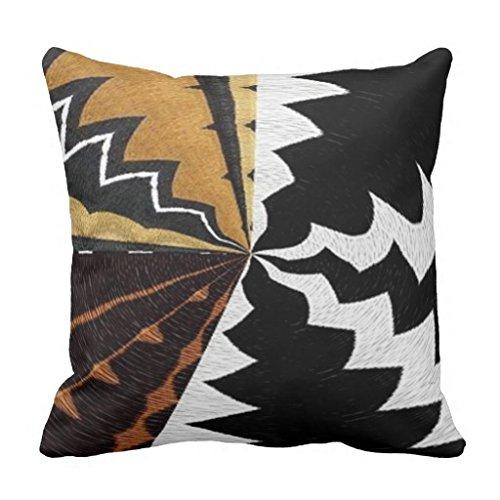 Bequeme Kissen modernes afrikanischen Graphic Dekoratives Kissen Bezüge 45x 45cm Kissen Bezug für Couch Accent Kissenbezüge 45x 45cm
