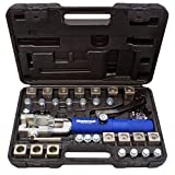 MASTERCOOL 72475-PRC Universal Hydraulic Flaring Tool Set with Tube Cutter, Blue and Silver