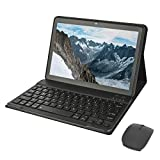 HOTREALS, Tableta Android de 10.1 Pulgadas, Tableta de Cuatro núcleos, 9 componentes con Sistema operativo Android, 4 GB de RAM, 64 GB de ROM, 3G WiFi, Tipo C, batería de 8000 mAh (Gris)
