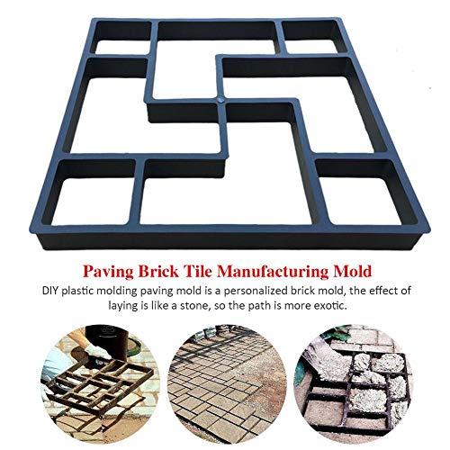 DIY Pflaster Betonform, Pflasterstein Path Maker Mould Garten Rasen Pfad dekorative Steinform Walk Maker Mould