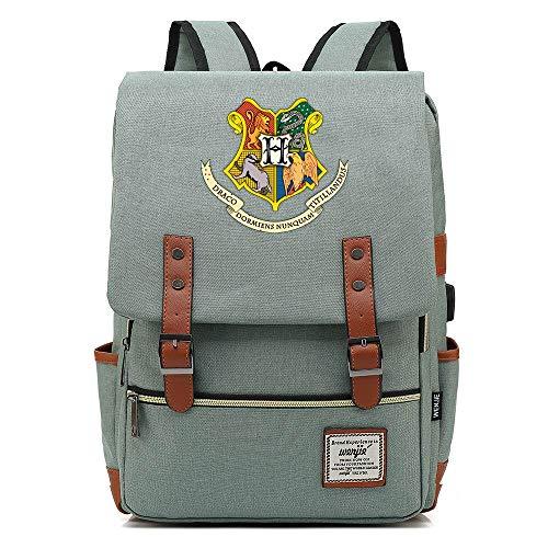 Hogwarts College Mochila, Harry-p Laptop Rucksack, con Puerto de Carga USB, Bolsa...