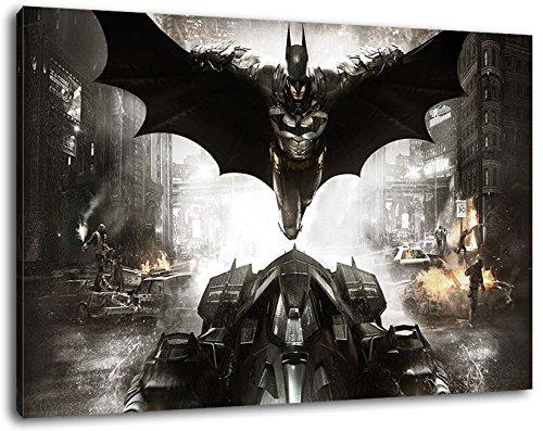 Batman arkham Format 120x80 cm Bild auf Leinwand, XXL riesige Bilder fertig gerahmt mit Keilrahmen, Kunstdruck auf Wandbild mit Rahmen