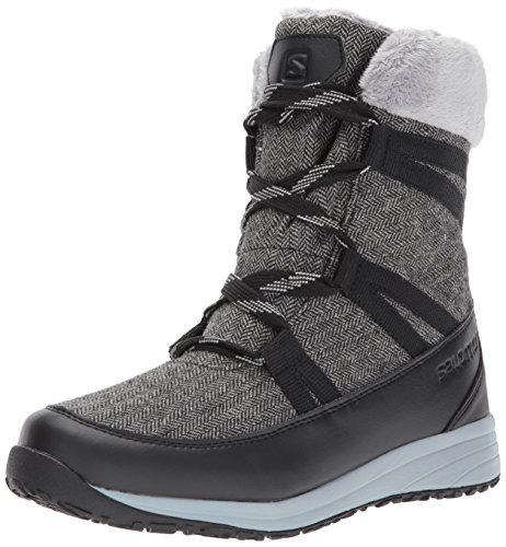 Salomon Damen Heika Cs Wp Kletterschuhe, Mehrfarbig (Black/Quarry/Alloy), 38 EU