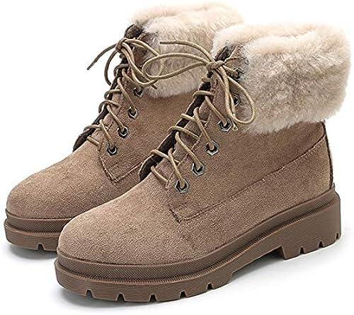PLNXDM damen Martin Stiefel Outdoor Schnee Stiefel Schuhe Lace Lace Lace Up Futter Winter Warm Ladies Combat Ankle Stiefel  Verkauf mit hohem Rabatt