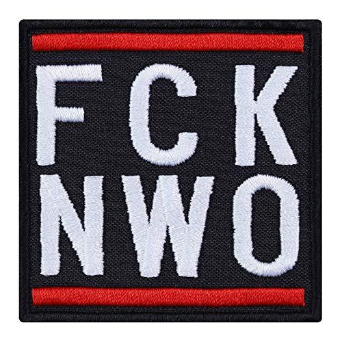 Parche: FCK NWO Hipster Patch Rocker Patch Imagen de Planchar Biker Pegatinas para Coser Divertido Frase New...